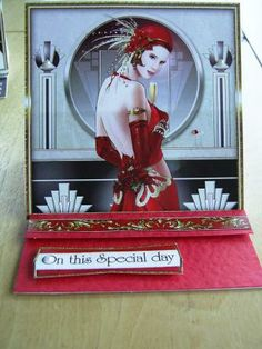 Art deco , on this special day card for a red letter day . Made in Scotland @exclusivelyyours.co