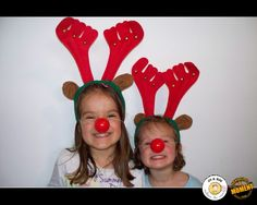 Les filles de Rudolph, the red-nosed reindeer !