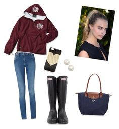 Rain Rain go away by madelinestroupe on Polyvore featuring polyvore, fashion, style, Calvin Klein, Hunter, Longchamp, Kate Spade, J.Crew and clothing