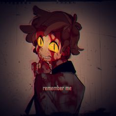 Kinda bloody but really good portrait of Bipper.