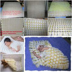 DIY Snuggly baby Pom Pom Blanket