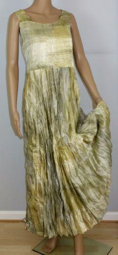 Lew-Magram-Maxi-Dress-16-Long-Summer-Boho-Party-Sleeveless-Crinkle-USA