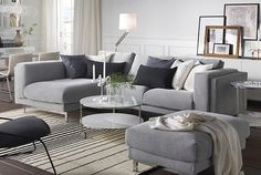 NOCKEBY contemporary-style seating with removable covers