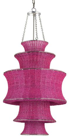 Currey and Company Houri Transitional Pendant Light  #eclectic #chic #pink