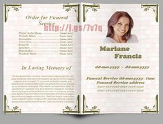 "Free Template For Funeral Program Captivating Résultat De Recherche D'images Pour ""funeral Programs Templates ."