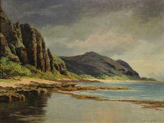 Near Makaha Caves, Kaena Point, Looking Towards  Makaha by Lloyd Sexton (1912-1990)