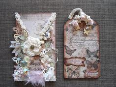 A shabby chic criss-cross birthday card.(Edith's creative pieces and bits)