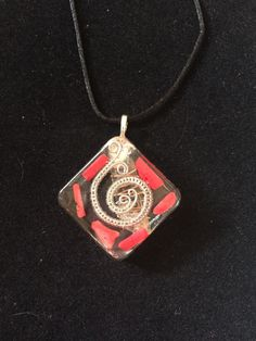 Red Coral- Steel Spiral- Orgone- Orgonite- Necklace- Pendant- Jewelry by BlueRockEmporium on Etsy https://www.etsy.com/listing/496361591/red-coral-steel-spiral-orgone-orgonite
