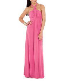 12c9866d74 City Goddess Cerise Halter Maxi Dress. Vestidos De Fiesta LargosMejor ...