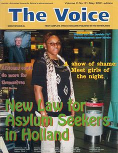 Cover Page for The Voice magazine issue No 21