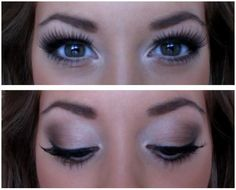 neutral toned eye makeup, those lashes!