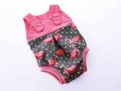 Babymode - Strampler Sommerstrampler Anleitung / Schnitt - ein Designerstück von KonfettiPatterns bei DaWanda