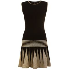 Ted Baker Kandis Knitted Flapper Dress, Black found on Polyvore