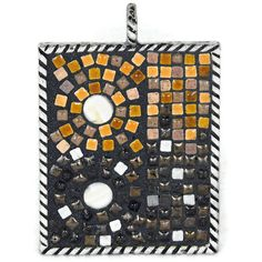 Mosaic Steampunk pendant or keychain named by FischerFineArts, $89.00
