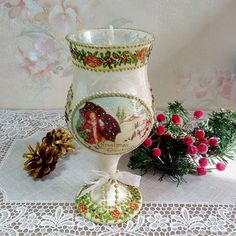 """Купить Подсвечник """"Рождество"""" в интернет магазине на Ярмарке Мастеров"""