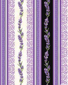 Lavender Market 2 - Garlands & Lace Stripe - Cream