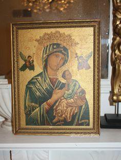 Vintage Madonna & Child Print FrenchGardenHouse.#religious #Madonna