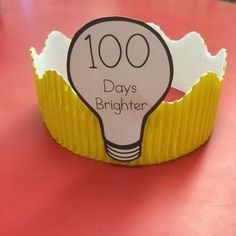 100 days brighter headband - day of school Cute lightbulb template for making 100 or 120 Days of School crowns for your students. Print out lightbulbs, cut them out, and attach them to your favorite decorative border. 100th Day Of School Crafts, 100 Day Of School Project, School Fun, School Days, 100 Days Of School Project Kindergartens, School Stuff, Classroom Crafts, Classroom Fun, Holiday Activities