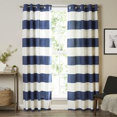 Found it at Joss & Main - Nile Stripe Grommet Curtain Panel Pair by Nautica