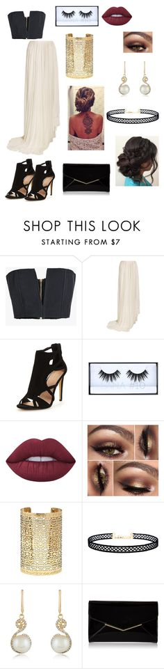 """""""Formal Dinner"""" by paigevjacobs on Polyvore featuring Balmain, Vionnet, Huda Beauty, Lime Crime, Forever 21, LULUS, Effy Jewelry and Furla"""