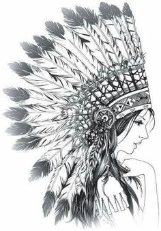 38 ideas tattoo girl face sketch behance 38 ideas tattoo girl face sketch behance This image has get. Sketches, Native American Art, Illustration, Art Drawings, Girl Face Drawing, Drawing Sketches, Girl Tattoos, Face Drawing, Indian Tattoo