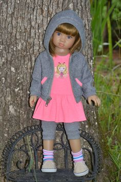 Hoodie , Dress , Leggings and Socks set  for Kidz n Cats doll. by Symidollsclothes on Etsy https://www.etsy.com/listing/243604195/hoodie-dress-leggings-and-socks-set-for