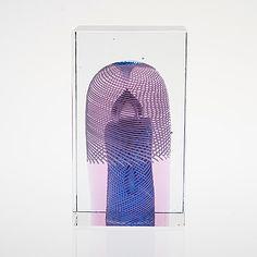 KUB, glas, signerad Oiva Toikka Nuutajärvi, 2007, numrerad 14/100.