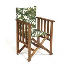 PALMERAL Tennis Deck Chair - White / Green