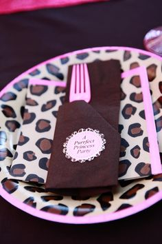Leopard Princess Party. Yes!! perfect for my leopard print cake.