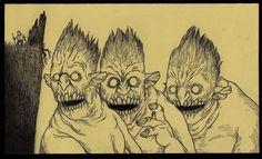 Les monstres et les créatures ont l'habitude d'envahir nos cauchemars d'enfance et peuvent même devenir une véritable source d'inspiration pour certains une fois à l'âge adulte. John Kenn reproduit sur Post-it des petites scènes lugubres tirées de se...