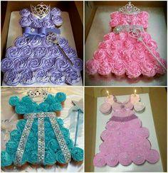 Vestidos de princesas de cupcakes