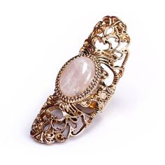 Chicnova Fashion Stone Set Baroque Ring (€3,22) ❤ liked on Polyvore featuring jewelry, rings, stone rings, vintage stone rings, vintage rings, stone jewelry and baroque jewelry