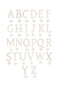Letter Hooks - anthropologie.com