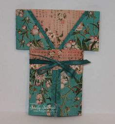 handmade Kimono Gift card by mcschmidty - beautiful Asian print papers ...
