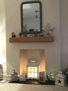 Empty Fireplace Ideas, Living Room Decor Fireplace, Home Fireplace, Fireplace Mirror, Feature Wall Living Room, New Living Room, Living Room Sofa, Dining Room, Interior Design Living Room
