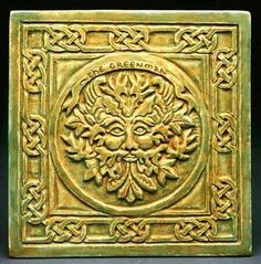 Greenman Wall Plaque - The Greenman is the Celtic God of the Woodlands. He takes care of the green and growing things and protects the forest creatures. Irish Celtic, Celtic Art, William Morris, Forest Creatures, Wire Pendant, Celtic Designs, Moon Art, Gods And Goddesses, Wall Plaques