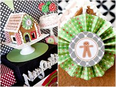 Gingerbread Themed Christmas Party - Free Printable Party Download - Kara's Party Ideas - The Place for All Things Party