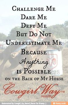 DO NOT underestimate me!
