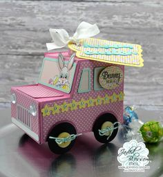 Doxie Mel Designs: Jaded Blossom's February 2017 Release Blog Hop :: Bunny Mail Truck
