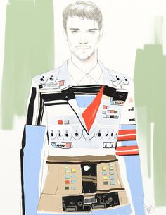 Givenchy S/S 2014 by ANMOM Illustration.Files: S/S 2014 Menswear Collections by ANMOM (Part 1)