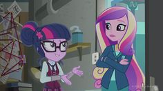 "Sci-Twi and Dean Cadence in ""My Little Pony Equestria Girls: Friendship Games"""