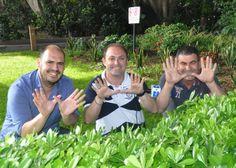 EFEceuta se suma al Día de la Red Natura: Juan Miguel Armuña (colaborador literario), Rafael Peña (delegado de EFE-Ceuta) y Reduan Dris (colaborador gráfico).