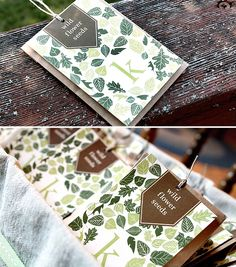 Rustic & Cozy Forest Whimsy Baby Shower - seed packets as a favor