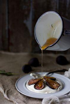 homemade mascarpone, fresh figs and rosemary honey