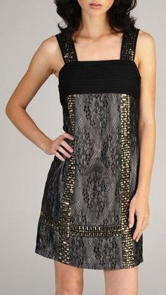 Sequin & Lace Damask Dress ♥-this is gorgeous