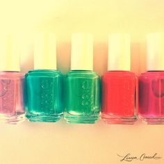 never a dull {mani} moment! #polish #essie #bright #colors