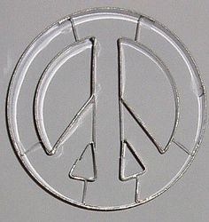 Peace sign cookie cutter