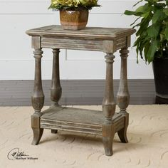 Mardonio Side Table by Uttermost. Heritage House sells Uttermost items.