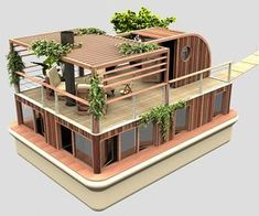 From Architecture & Design Floating House, Sims House, Shipping Container Homes, Tiny House Design, Modern Architecture, Amazing Architecture, Exterior Design, Future House, House Plans