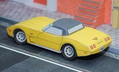 """Classic Corvette Sting Ray 1978 Paper Model - by Race Paper - == -  Some days ago I`ve posted here the Corvette Sting Ray 1965 and now here is the Corvette Sting Ray 1978, more one paper model of a Classic Vehicle from the Race Paper Advent Calendar 2013. Remember that this model is only available for download for a day or two, so be sure to """"grab"""" yours. All models of this Advent Calendar are created by German designer Volker Preikschat."""
